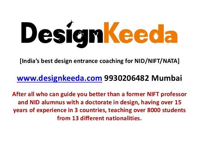 NID/ NIFT/ NATA entrance exam pattern & syllabus