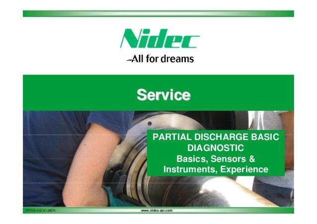Service PARTIAL DISCHARGE BASIC DIAGNOSTIC Basics, Sensors & Instruments, Experience  PPT2013.01.01.20EN  www.nidec-asi.co...