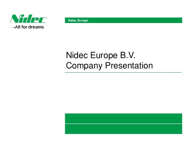 Nidec Corporation 2/17 is the World's No.1 manufacturer of small precision motors. And with aiming to be the World's No.1 ...