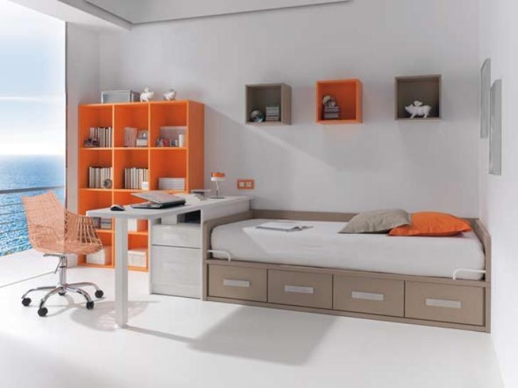 Dormitorios juveniles modernos nidos for Muebles infantiles juveniles