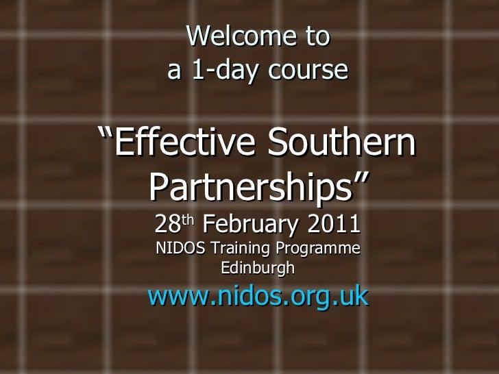 Good practice in partnerships for international development