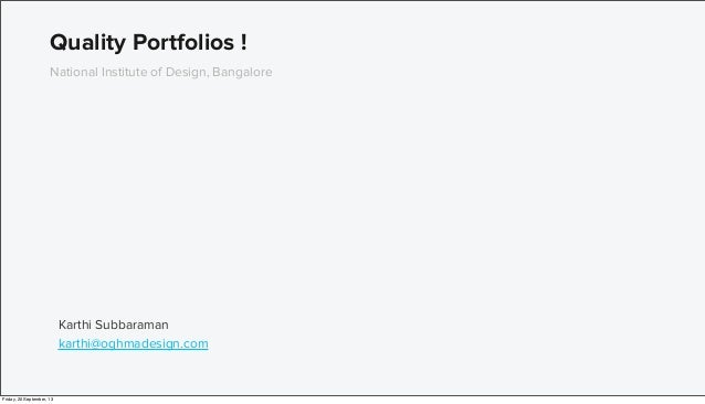 Building great portfolios for designers