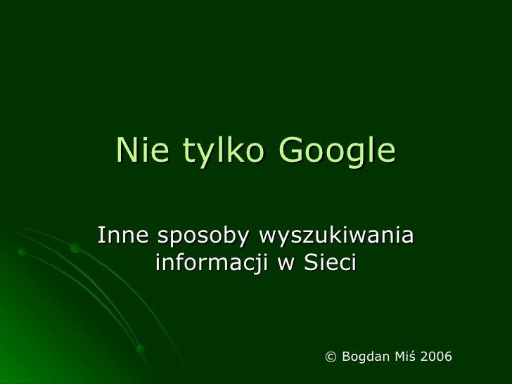 Nie tylko Google