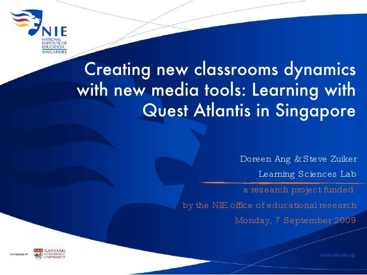 Learning with Quest Atlantis in Singapore