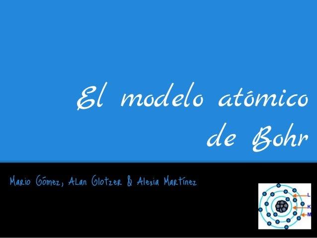 El modelo atómico                        de BohrMario Gómez, ALan Glotzer & Alexia Martínez