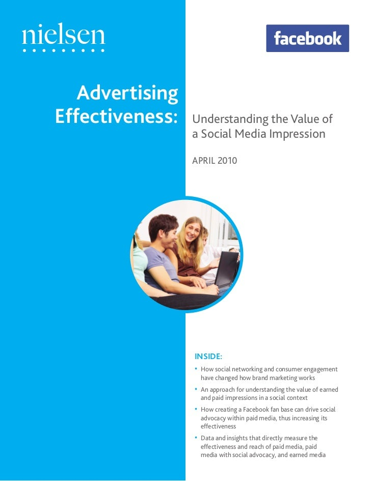 Nielsen Advertising Effectiveness Understanding The Value Of A Social Media Impressions