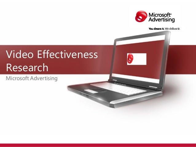 Nielsen IAG Microsoft Vvideo Effectiveness Report_2011