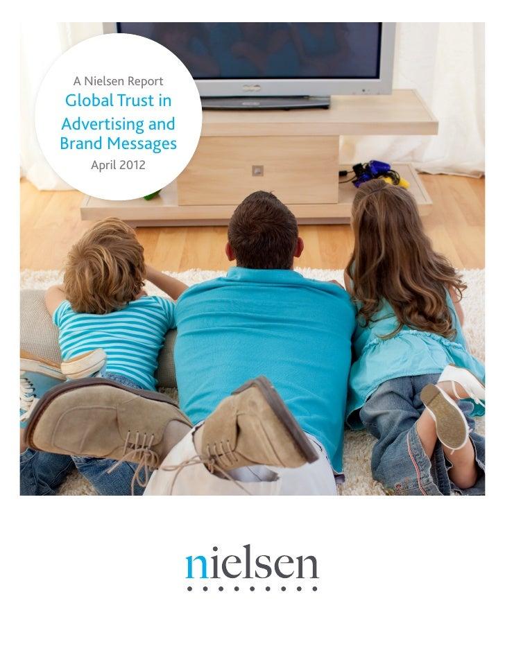 Trust in advertising global report April 2012