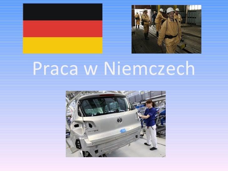 Niemcy - praca