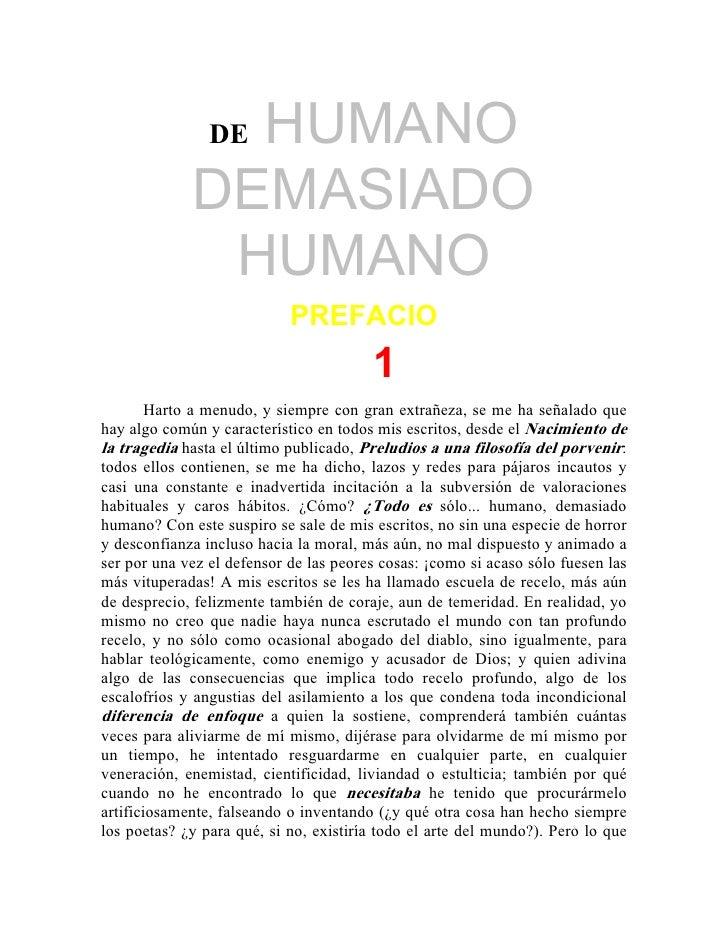 HUMANO                 DE               DEMASIADO               HUMANO                             PREFACIO               ...