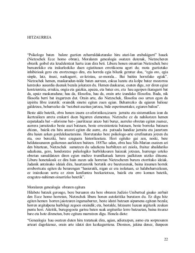 Nietzsche. moralaren genealogia