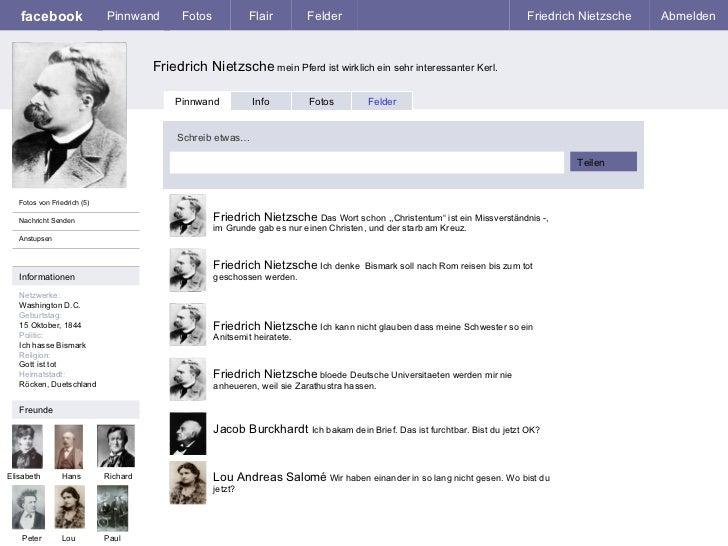 facebook Friedrich Nietzsche  mein Pferd ist wirklich ein sehr interessanter Kerl. Pinnwand Fotos Flair Felder Friedrich N...