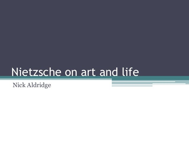 Nietzsche on art slides