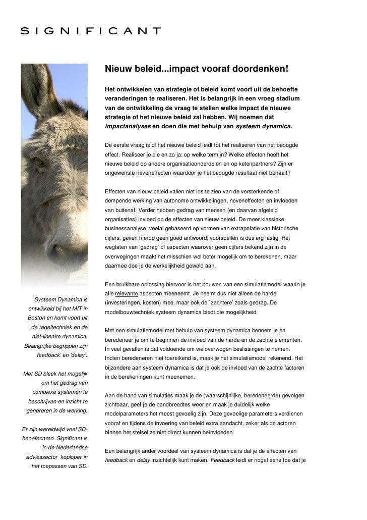 Nieuw Beleid   Impact Vooraf Doordenken! (V2.0) 110927