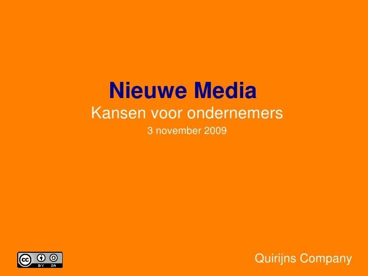 Nieuwe Media 3 November 2009