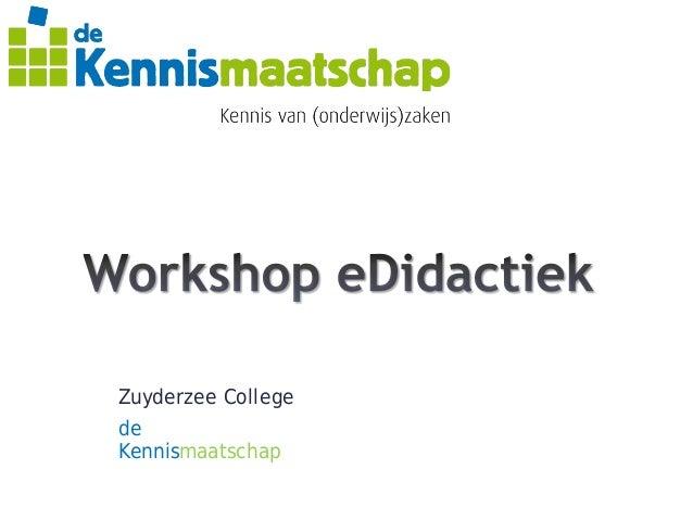 Workshop eDidactiek