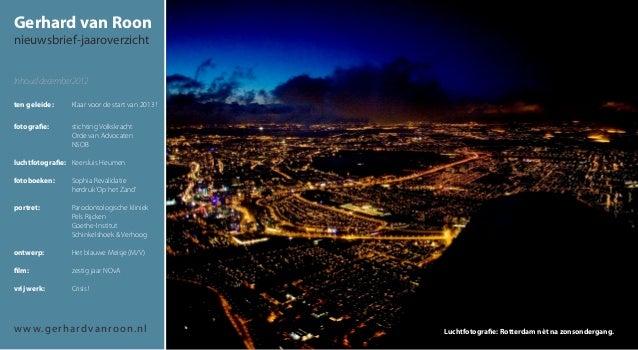 Gerhard van Roonnieuwsbrief-jaaroverzichtInhoud december 2012ten geleide:      Klaar voor de start van 2013 !fotografi...