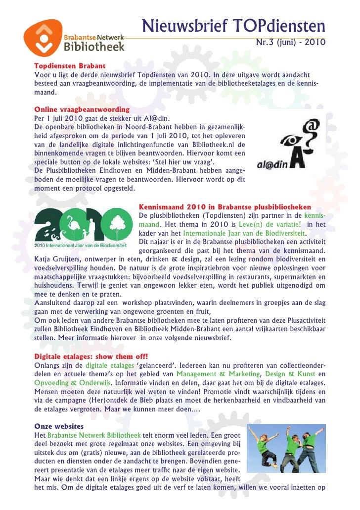 Nieuwsbrief TOPdiensten                                                                           Nr.3 (juni) - 2010  Topd...