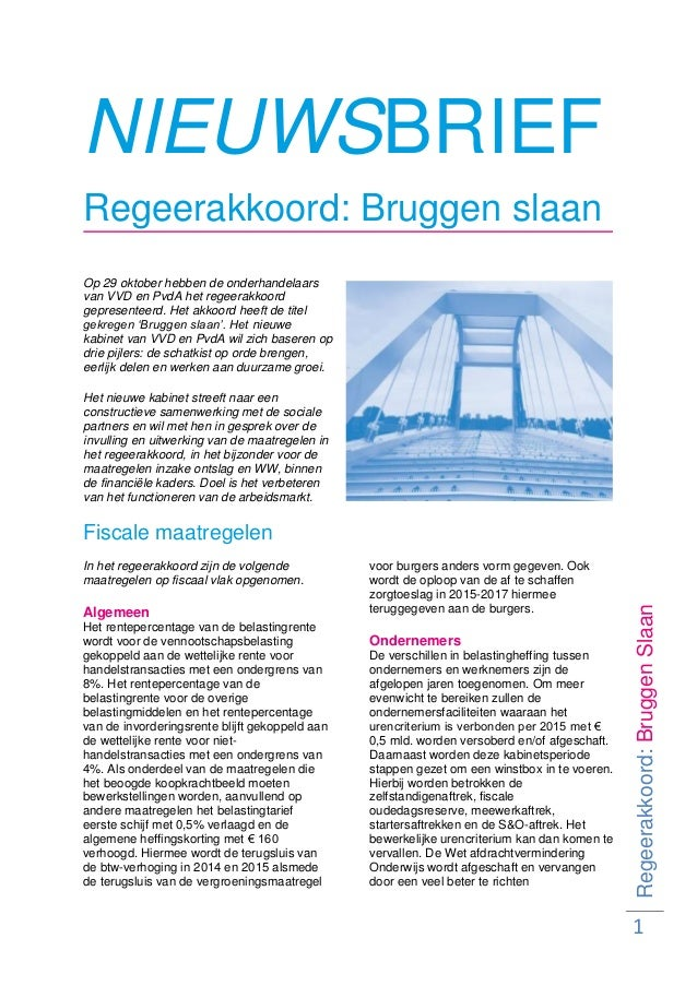 Nieuwsbrief regeerakkoord november 2012 buro360 accountants
