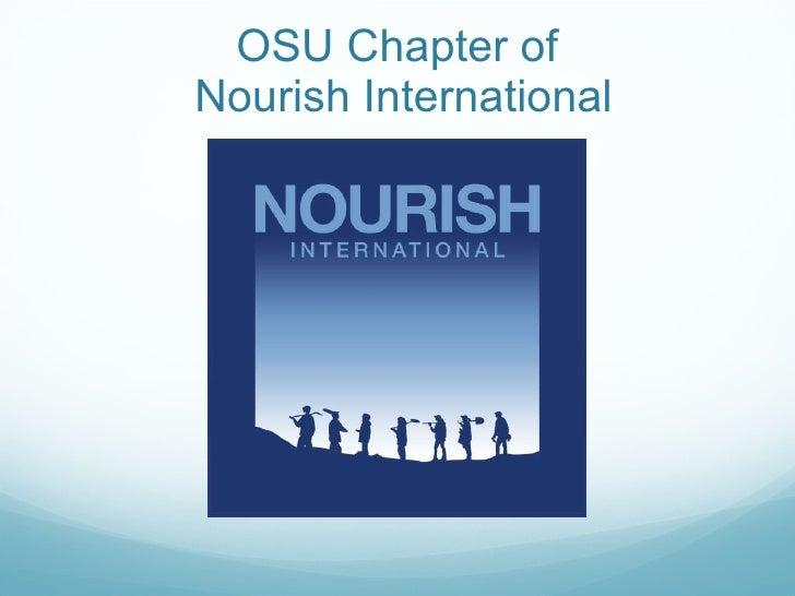 OSU Chapter of  Nourish International