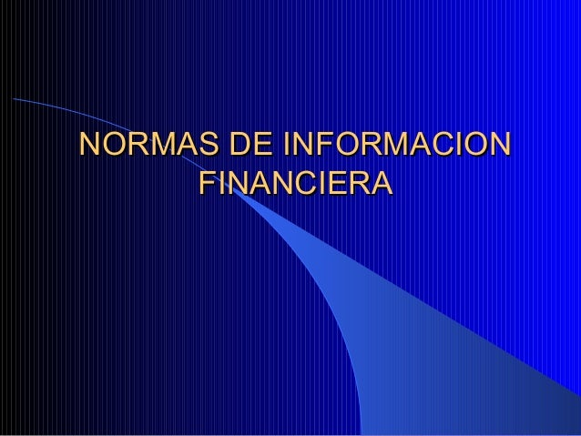 Nifs para proceso contable 19 sep