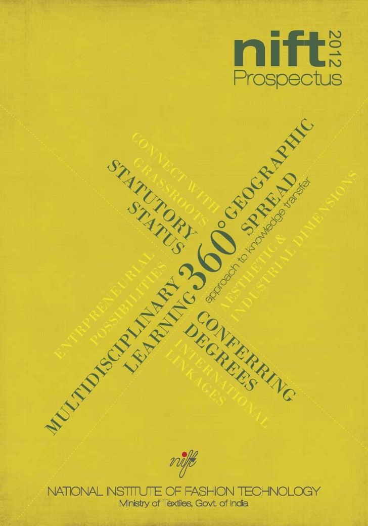 NIFT admission prospectus 2012