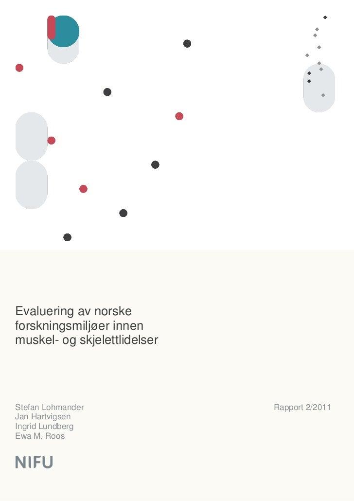 Nifu rapport 2 2011