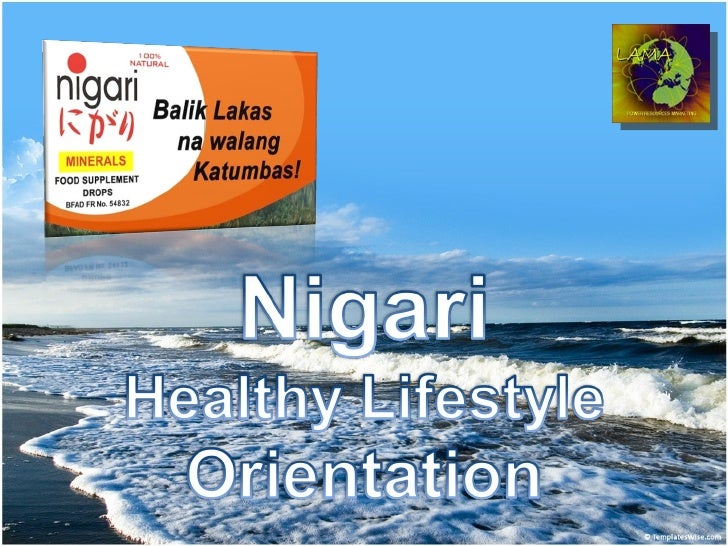 Nigari Healthy Lifestyle Presentation