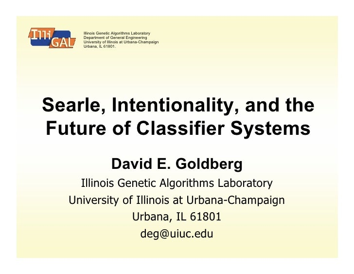 Searle, Intentionality, and the  Future of Classifier Systems