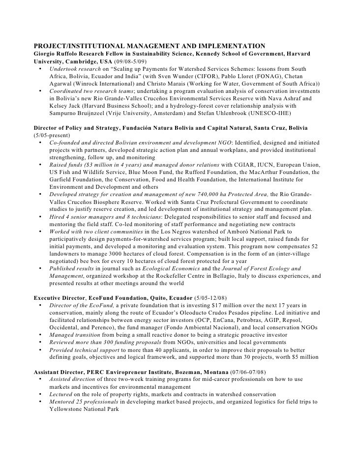 Sample harvard resume format
