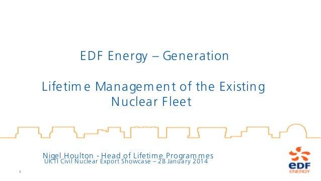 Nigel Houlton. EDF Energy. 28th January