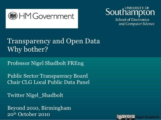 Nigel Shadbolt-Government Transparency-Keynote Presentation