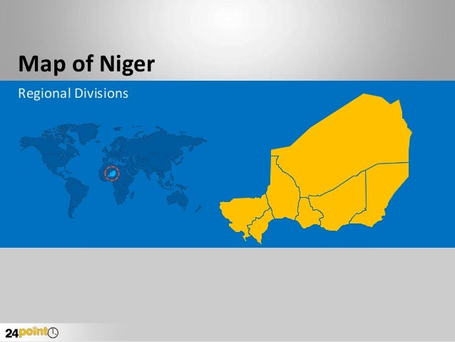 Map of Niger Regional Divisions