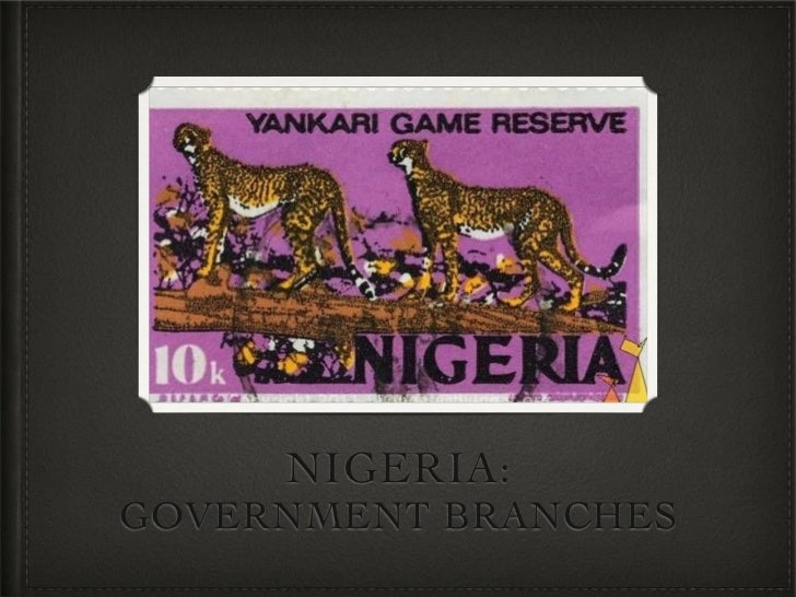 NIGERIA:GOVERNMENT BRANCHES