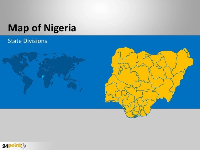 Buy and Download Editable PPT - Nigeria Map