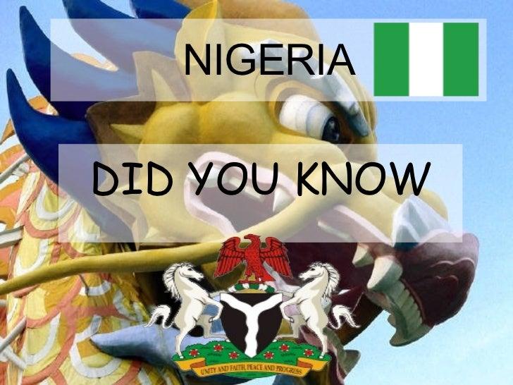 NIGERIA - DID YOU KNOW