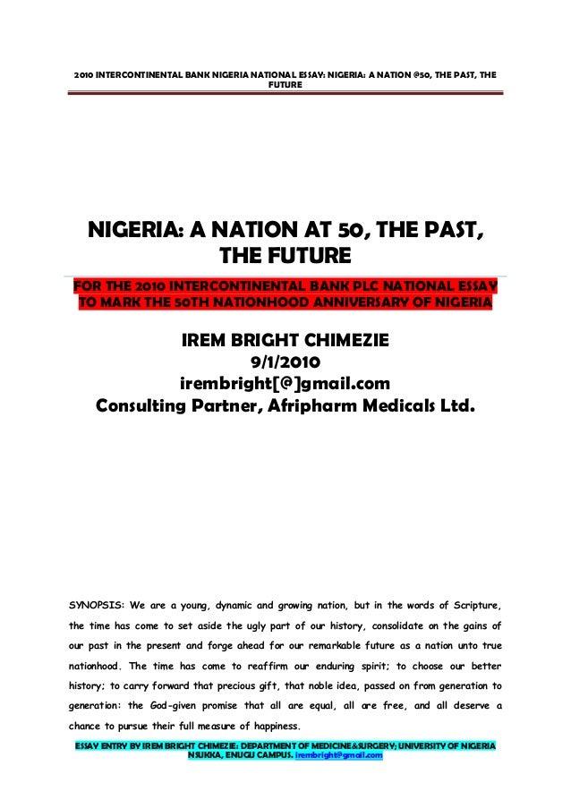 Nigeria at 50 essay by irem bright chimezie