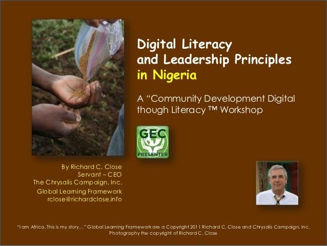 Digital Literacy                                                   and Leadership Principles                              ...