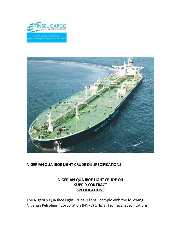 Nigerian qua iboe light crude oil specifications