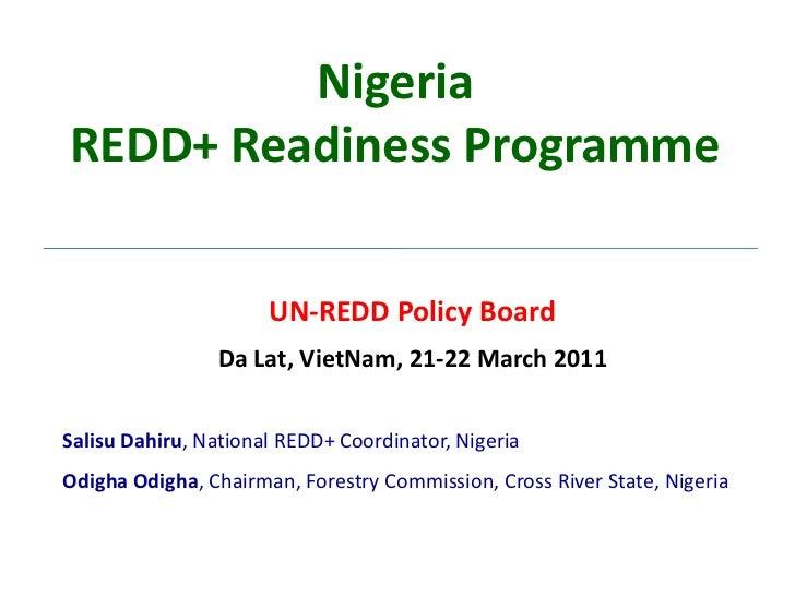 Nigeria redd programme pb 6 mar 20111