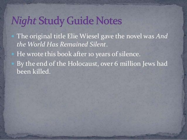 Write my essay night by elie wiesel