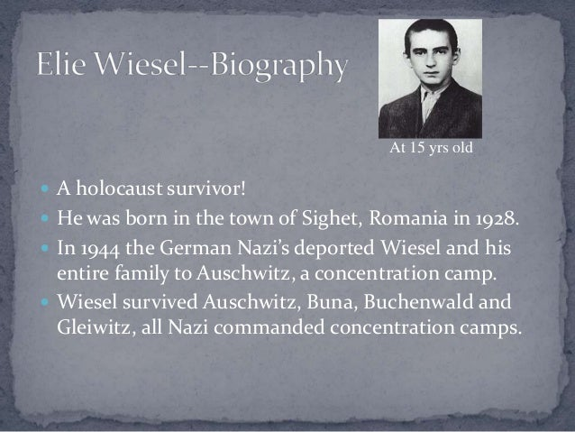 a review of the novel night by elie wiesel Night (1960) is a work by elie wiesel about his experience with his father in the nazi german concentration camps at auschwitz and buchenwald in 1944–1945.