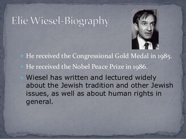 an analysis of the autobiography of elie wiesel night The autobiography night, written by elie wiesel, takes place during the holocaust the story is about a boy named elie wiesel and his father who experienced the tragedies of many concentration camps.