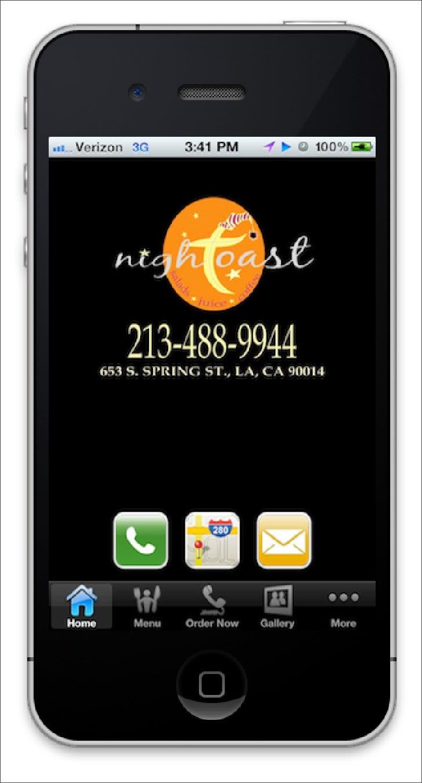 Night Toast iPhone Restaurant App