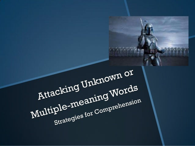 Night vocabulary strategies