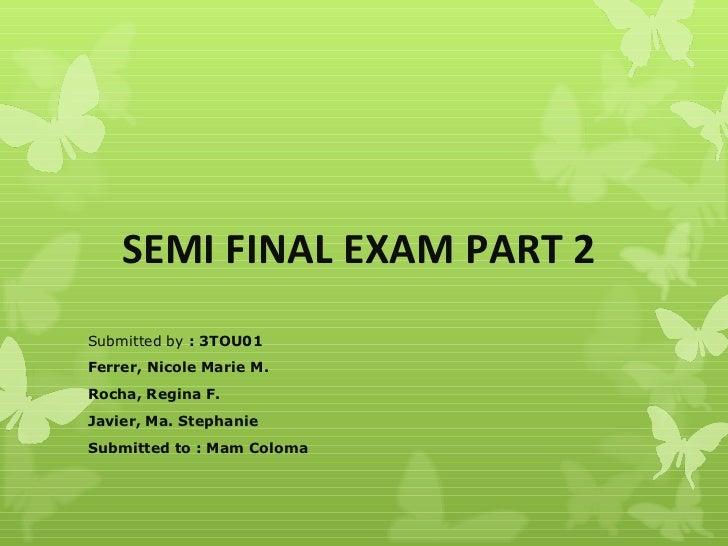 Nihongo Semi- Final Exam Part 2
