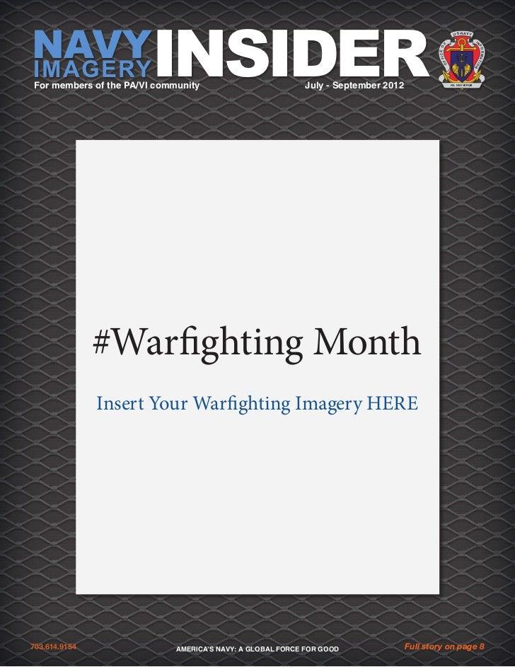 Navy Imagery Insider July-Sept 2012