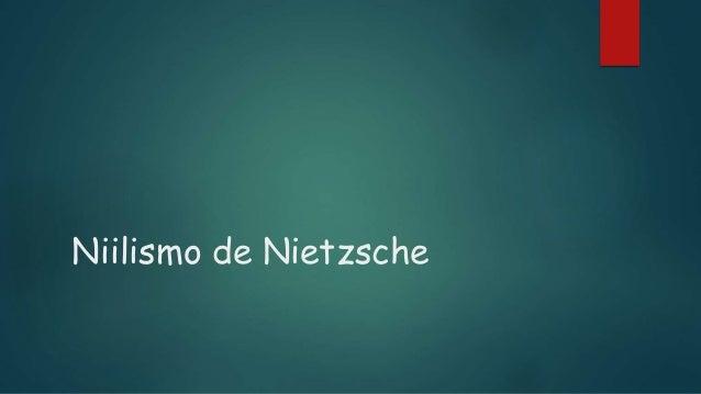 Niilismo de Nietzsche