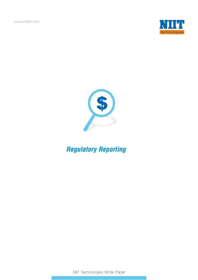 NIIT Technologies regulatory reporting