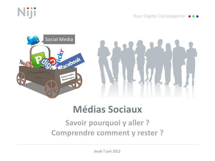 Social Media           Médias Sociaux     Savoir pourquoi y aller ?  Comprendre comment y rester ?               Jeudi 7 j...